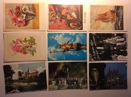Lotto Cartoline - Artistica Fiore Flower Barca Boat Milano Lourdes Paris Milano - Cartoline