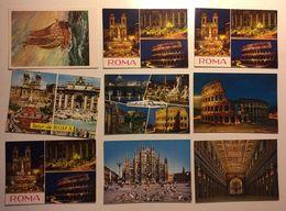 Lotto Cartoline - Roma Milano Rome Milan - Cartoline