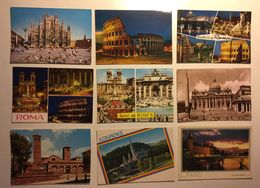 Lotto Cartoline - Roma Milano Rome Milan Lourdes Paris - Cartoline