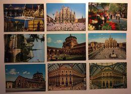 Lotto Cartoline - Roma Milano Rome Milan  Paris - Cartoline
