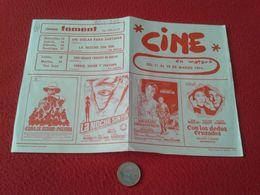 ANTIGUO DOCUMENTO FOLLETO DE CINE O SIMILAR PROGRAMACIÓN EN MATARÓ 1974. CINEMA FOMENT, NURIA CERDANYOLA CATALONIA SPAIN - Other Collections