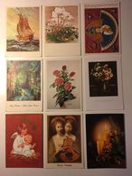 Lotto Cartoline - Artistica Nave Boat Fiore Flower Angelo Angel Natale - Cartoline