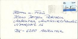 Portugal Madeira Cover Sent To Denmark Almancil 12-3-1998 Single Franked SHIP - Madeira