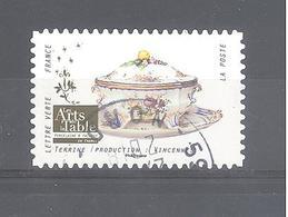 France Autoadhésif Oblitéré (Arts De La Table - Terrine - Vincennes) (cachet Rond) - France