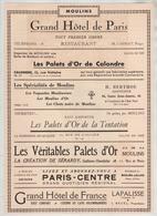 Publicités 1933 Moulins Calondre Palets Toquades Chats Noirs Tentation Sérardy Berthou Cagnat Bruel - Publicités