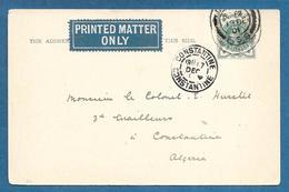 1901 LONDON TO CONSTANTINE ALGERIA 1/2 PENNY GIUBILEO REGINA VITTORIA - Storia Postale