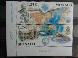 MONACO 2003 Y&T N° 2391 & 2392 SE TENANT ** -  CENTENAIRE DE LA GEBCO - Unused Stamps