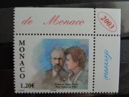 MONACO 2003 Y&T N° 2408  ** - CENTENAIRE DE L'ATTRIBUTION DU PRIX NOBEL DE PHYSIQUE - Monaco