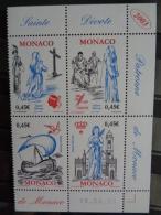 MONACO 2003 Y&T N° 2410 à 2413 SE TENANT  ** - 1700e ANNIV. ARRIVEE DE SAINTE DEVOTE - Monaco