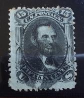 U.S.A.  U.S. POSTAGE 15 Cents Lincon - 1845-47 Emissioni Provinciali