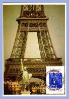 Carte Maxi - Paris (75) - Statue Liberté Et Tour Eiffel - Eiffelturm