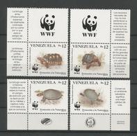 Venezuela 1992 WWF Turtles Y.T. 1584/1587 ** - Venezuela