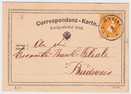 "Österreich, "" 1873. Böhmen-Stp.,Neu Ötting , GA Gelb ,   A630 - Briefe U. Dokumente"