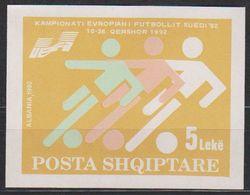 Albania 1992 European Championship Football M/s ** Mnh (39448G) - Albanië