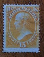 U.S.A.  U.S. POSTAGE AGRICOLTURE 15 Cents  Nuovo * Firmato - 1845-47 Emissioni Provinciali