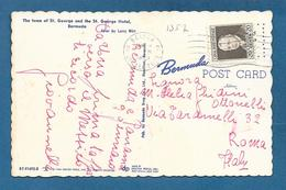 CANAL ZONE POSTAGE BALBOA 1965 ON CARD BERMUDA - Panama