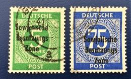 ALLEMAGNE GERMANY ALEMANIA DEUTSCH POST, Sowjetische Besatzungs Zone (lot 2) - Zone Soviétique