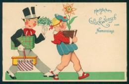 Artist Signed Children Art Deco Serie 8151 Cartolina TC6432 - Non Classificati