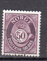 Noorwegen 1893 Mi Nr 60 B 131/2 - 12 1/2 Posthoorn - Norvège