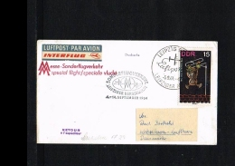 1964 - Interflug Fair Flight Leipzig - Kopenhagen [JD078] - Brieven En Documenten