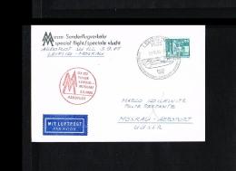 1965 - Fair Flight Aeroflot Leipzig - Moscow [JD085] - Brieven En Documenten