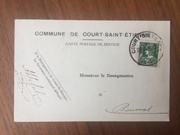 GENAPPE ,COMMUNE DE COURT-SAINT - ÉTIENNE »MONSIEUR LE BOURGMESTRE  « Courrier Changement  Adresse (1935 ). - Genappe