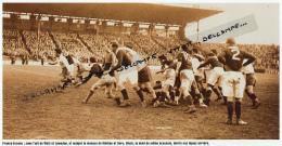 RUGBY : PHOTO (1947), TOURNOI DES 5 NATIONS, FRANCE-ECOSSE (8-3), COLOMBES, MATHEU, SORO, BLACK, WATT, LUMDSEN - Rugby