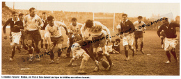 RUGBY : PHOTO (1947), TOURNOI DES 5 NATIONS, FRANCE-ECOSSE (8-3), COLOMBES, MATHEU, JOL, PRAT, SORO, DRIBBLING - Rugby