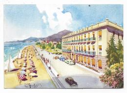 BORDIGHERA - HOTEL DE PARIS ILLUSTRATA FRATTINI VIAGGIATA FG - Imperia