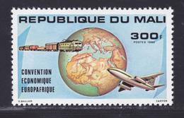 MALI N°  397 ** MNH Neuf Sans Charnière, TB (D7451) Convention économique Europafrique, Train, Avion Boeing 737 - Mali (1959-...)