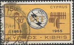CYPRUS 1965 Centenary Of I.T.U - 15m ITU Emblem And Symbols FU - Usados