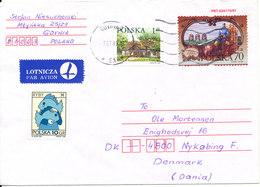 Poland Cover Sent Air Mail To Denmark 7-7-1998 - 1944-.... Republic