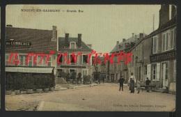 52 NOGENT EN BASSIGNY - Grande Rue - Couleurs Toilée - TOP RARE - Nogent-en-Bassigny