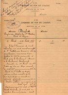 VP12.709 - PARIS 1905 - 2 Documents De La Compagnie Des Chemins De Fer De L'Ouest - Chemin De Fer
