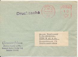 Germany Cover With Meter Cancel Mainz 16-3-1963 - [7] République Fédérale