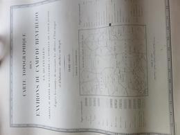 BEVERLOO Topografische Kaarten 1855  Zeer Zeldzaam Beverloo Cartes Topographiques Tres Rare - Mapas Topográficas