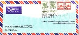 Bangladesh Air Mail Cover Sent To Denmark 20-5-1981 Topic Stamps - Bangladesh