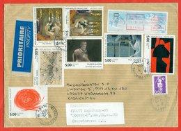 France 1994. Painting. Custom Envelope Past Mail. - Autres