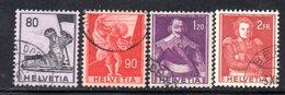 965 490 - SVIZZERA 1958 , Unificato  N. 612/615  Usato . - Schweiz