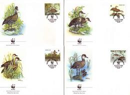 183j * BAHAMAS 672/5 * 4 FDC WWF * PFEIFGÄNSE **!! - Bahamas (1973-...)