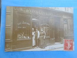 Carte Postale Photo Commerce De Vins Et Liqueurs, Paris, 12  Rue Guisard - Magasins
