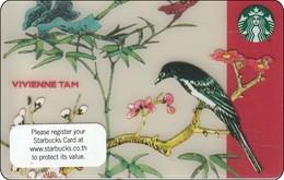 Thailand Starbucks Card  Vivienne Tah - 2016 - 6125 - Gift Cards