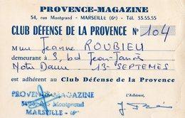 PROVENCE-MAGAZINE  -CLUB DE LA DEFENSE DE LA PROVENCE N°104- - Mappe
