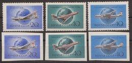 Russia USSR 1958, Mi 2169A-2171A, 2169B-2171B, **, MNH OG - 1923-1991 USSR