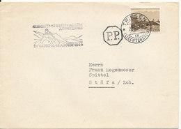 Liechtenstein Cover Sent To Switzerland Triesen 27-7-1946 Single Franked - Liechtenstein