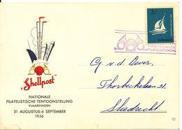 Netherlands Special Card Shellpost National Exhibition Vlaardingen 31-8 - 6-9-1956 - 1949-1980 (Juliana)