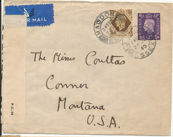 Great Britain Censored (1239) Cover Sent To USA London 24-7-1940 - Briefe U. Dokumente