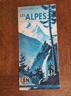 Les Alpes Illustré Par R. Auger - Ascension Du Mont Blanc, Chambéry, Annecy Saint Jean De Maurienne, Evian Menthon, SNCF - Dépliants Touristiques