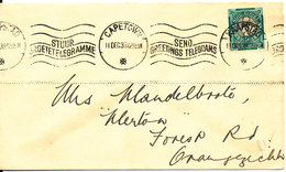 South Africa Cover Capetown 11-12-1939 Send Greetings Telegrams - South Africa (...-1961)