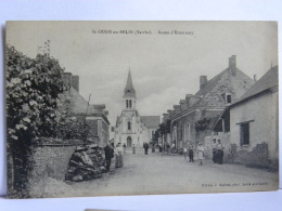 CPA (72) Sarthe - Saint Ouen En Belin - Route D'Ecommoy - France